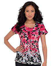 Landau 4059 Women Banded U Top at GotApparel