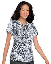Landau 4063 Women Pintuck Crossover V-Neck Top at GotApparel