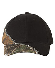 Kati Lc4bw  Licensed Camo Cap With Barbed Wire Embroidery at GotApparel
