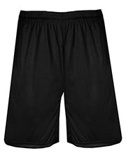 Badger 4110 Men Pocket Training Short White at GotApparel