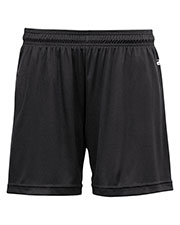 Badger 4116  Sportswear Women's Performance Elastic Waist Short - Large - Black at GotApparel