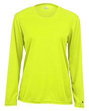Badger 4164  Sportswear Women's Comfort Long-Sleeve T-Shirt - Black - Large at GotApparel