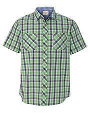 Weatherproof 154620 Men Vintage Plaid Short Sleeve Shirt at GotApparel