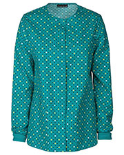 Cherokee 42350C Women Snap Front Warm-Up Jacket at GotApparel