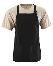 Augusta 4250 Unisex Medium Length Apron With Pouch OneSize at GotApparel