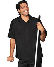 Edwards 4276 Men's Black Housekeeping Service Shirt at GotApparel