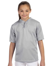 Augusta 427 Boys Wicking Two-Button Jersey at GotApparel