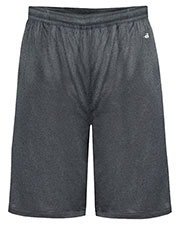 Badger 4319 Men Heathered 10 Performance Shorts at GotApparel