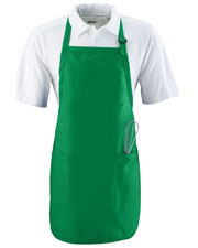 Augusta 4350 Unisex Full Length Apron With Pockets OneSize at GotApparel