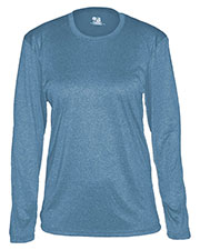 Badger 4364 Women Pro Heather Long-Sleeve Tee at GotApparel