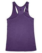 Badger 4366 Women Pro Heather Racerback Performance Tank at GotApparel