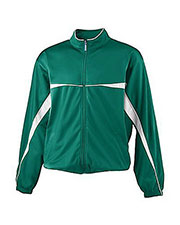 Augusta 4371  Youth Two Color Brushed Tricot Jacket at GotApparel