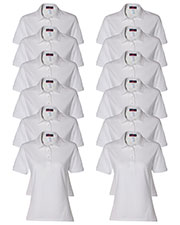 Jerzees 437W Women 5.6 Oz. 50/50 Jersey Polo With Spotshield  12-Pack at GotApparel
