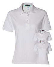 Jerzees 437W Women 5.6 Oz. 50/50 Jersey Polo With Spotshield  3-Pack at GotApparel