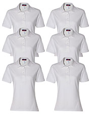 Jerzees 437W Women 5.6 Oz. 50/50 Jersey Polo With Spotshield  6-Pack at GotApparel