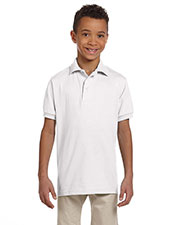 Jerzees 437Y Boys 5.6 oz., 50/50 Jersey Polo with SpotShield at GotApparel