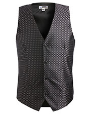 Edwards 4396 Men Grid Brocade Vest at GotApparel