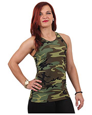 Rothco 44080 Women Womens Camo Workout Performance Tank Top at GotApparel