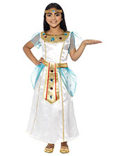 Smiffys 44104S Girls Deluxe Cleopatra Girl Costume, White at GotApparel