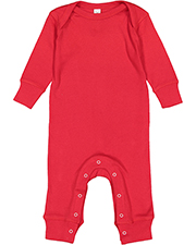 Rabbit Skins 4412 Toddler Infant Long-Sleeve Baby Rib Coverall at GotApparel
