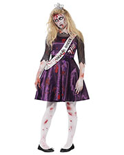 Smiffys 44218S Girls Zombie Prom Queen Costume, Purple at GotApparel