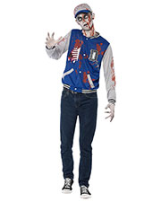 Smiffys 44219S Boys Zombie Jock Costume, Blue at GotApparel