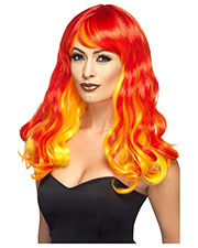 Smiffys 44258 Women Ombre Devil Flame Wig, Red & Orange at GotApparel