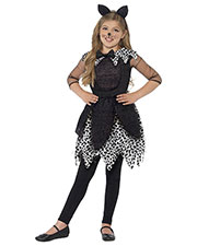 Smiffys 44287L Girls Deluxe Midnight Cat Costume, Black at GotApparel