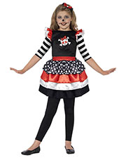 Smiffys 44288T2 Girls Skully Girl Costume, Black at GotApparel