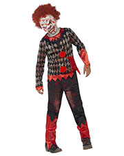 Smiffys 44293L Boys Deluxe Zombie Clown Costume, Red & Green at GotApparel