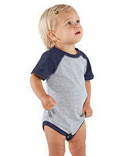 Rabbit Skins 4430 Infants Vintage Fine Jersey Baseball Bodysuit at GotApparel