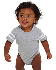 Rabbit Skins 4437 Infants Fine Jersey Football Bodysuit at GotApparel
