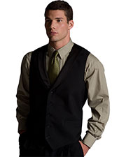 Edwards 4495 Men Black Satin Shawl Vest at GotApparel