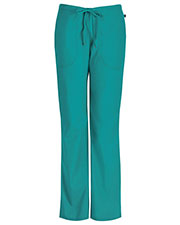 Code Happy 46002A Women Mid-Rise Flare Leg Drawstring Scrub Pant at GotApparel