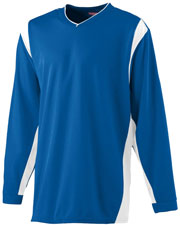 Augusta 4600 Adult Wicking Long-Sleeve Warm-Up Shirt at GotApparel