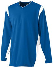 Augusta 4601 Boys Wicking Long Sleeve Warm-Up Shirt at GotApparel