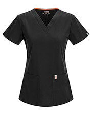 Code Happy 46607AB Women's Princess Seam V-Neck Solid Scrub Top at GotApparel