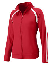 Augusta 4700 Women's Poly/Spandex Athletic Zip Pullover Jacket at GotApparel