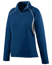 Augusta 4710 Women's Poly/Spandex Athletic Zip Pullover Jacket at GotApparel