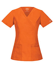 Cherokee Workwear 4728 Women Mock Wrap Top at GotApparel