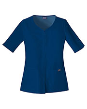 Cherokee Workwear 4730 Women Button Front Top at GotApparel