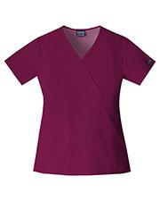 Cherokee Workwear 4741 Women Mock Wrap Top at GotApparel