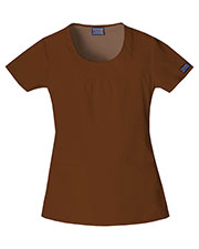 Cherokee Workwear 4761 Women Round Neck Top at GotApparel