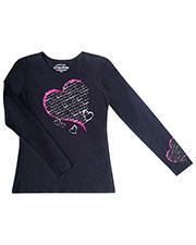 "Cherokee Workwear 4819 Women ""healing Heart"" Long-Sleeve Knit Tee at GotApparel"