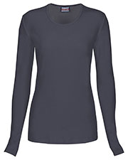 Cherokee Workwear 4881 Women Long-Sleeve Knit Tee at GotApparel