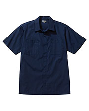 Edwards 4889 Men's Zip Front Housekeeping Short-Sleeve Service Shirt at GotApparel