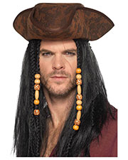 Smiffys 49125 Unisex Pirate Hat, Brown at GotApparel