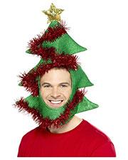 Smiffys 49136 Unisex Novelty Christmas Tree Hat, Green at GotApparel