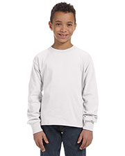Fruit of the Loom 4930B Boys 5 oz., 100% Heavy Cotton HD LongSleeve T-Shirt at GotApparel