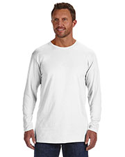 Hanes 498L Men 4.5 oz., 100% Ringspun Cotton nanoT LongSleeve T-Shirt at GotApparel